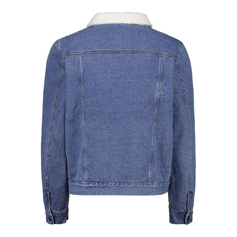H&H Men's Sherpa Lined Denim Jacket, Denim Dark, hi-res