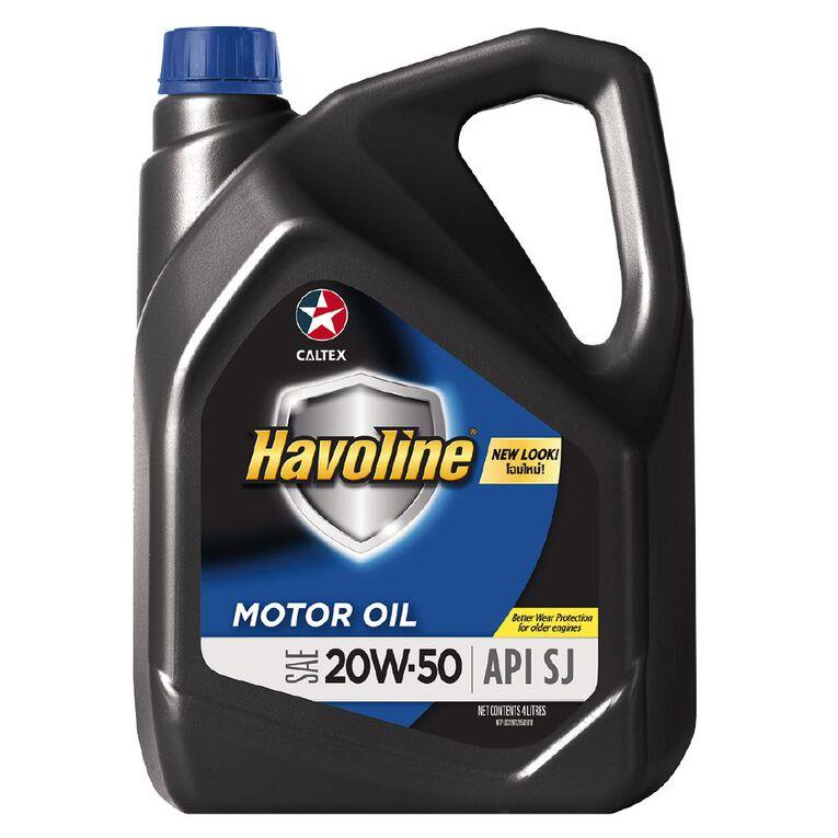 Caltex Havoline Formula (SJ) 20W-50 Engine Oil 4L, , hi-res