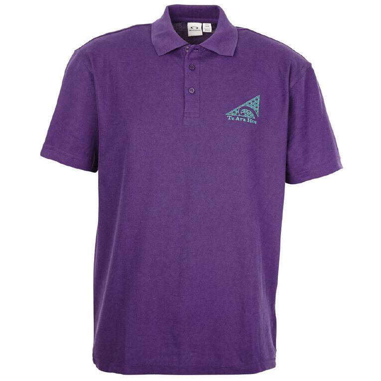 Schooltex TKKM O Te Ara Hou Napier Short Sleeve Polo with Embroidery, Purple, hi-res