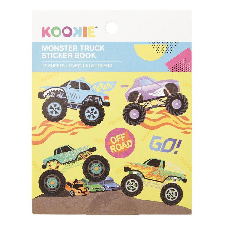 Kookie Mini Sticker Book 12 Sheets Monster Truck, , hi-res