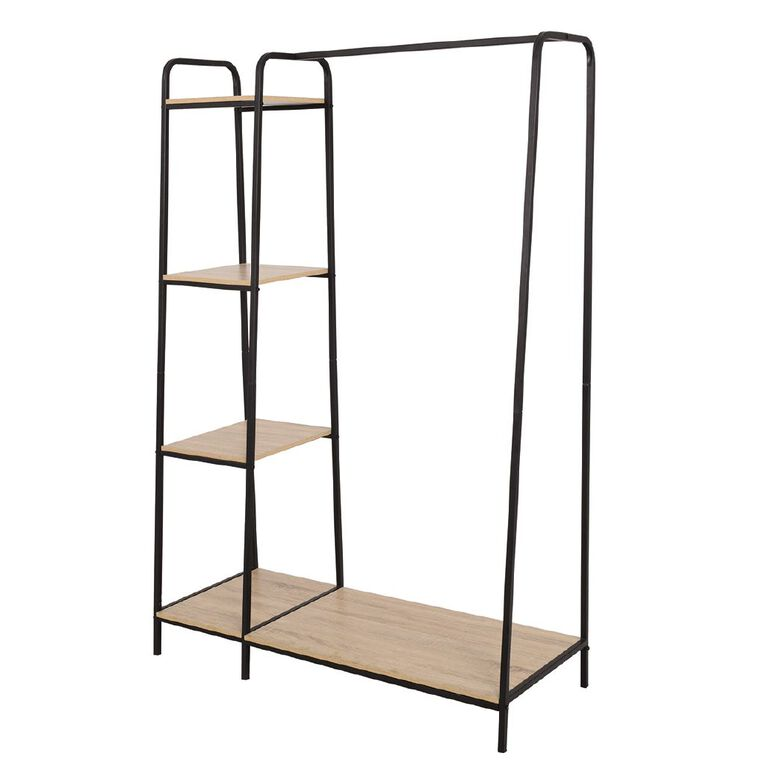 Living & Co Metal Garment Rack 4 Shelves, , hi-res