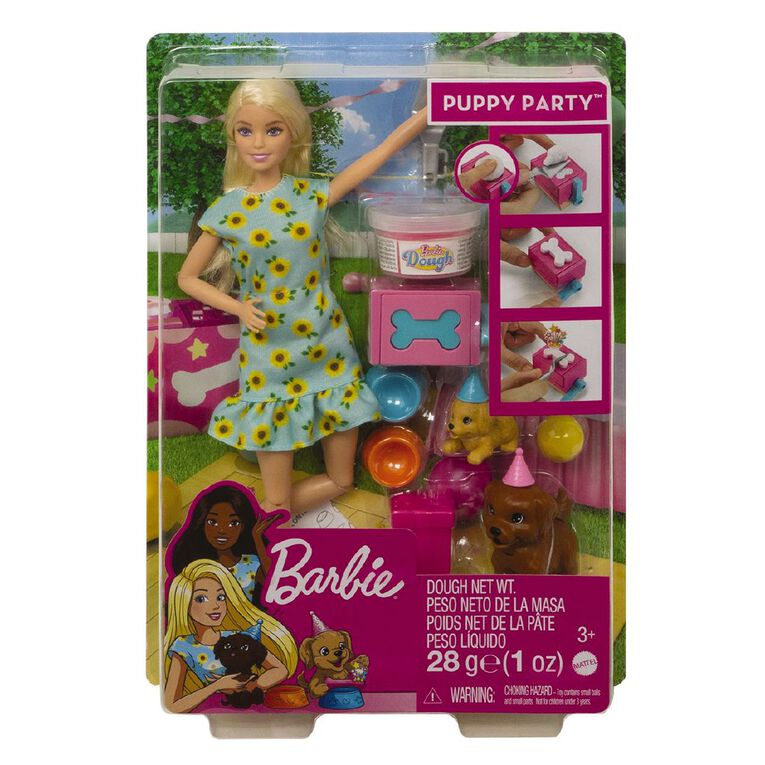 Barbie Puppy Party Doll & Playset, , hi-res