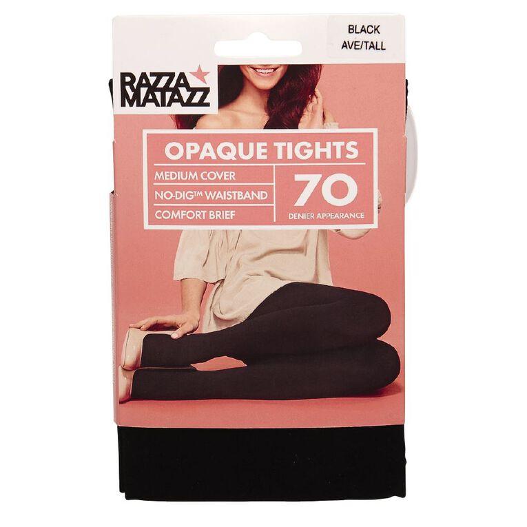 Razzamatazz Women's Opaque Comfort Tights 70 Denier 1 Pack, Black, hi-res