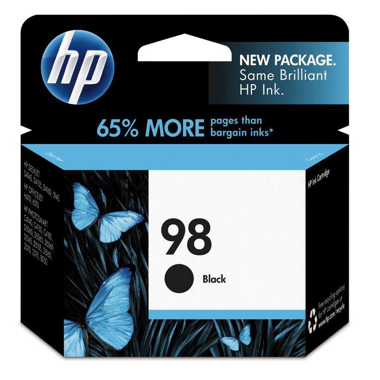 HP Ink Cartridge 98 Black (420 Pages), , hi-res
