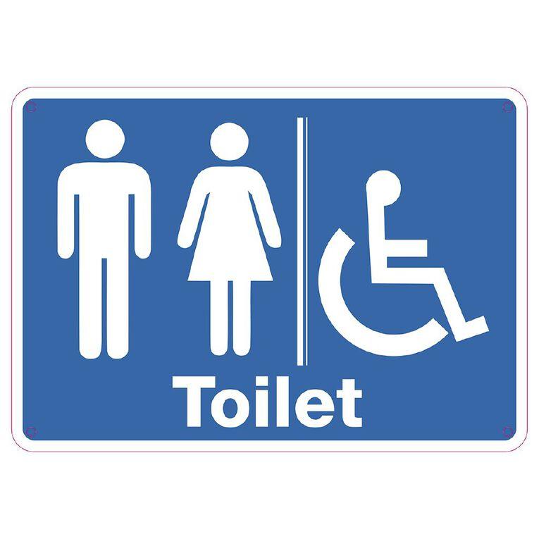WS Toilet Sign Small 240mm x 340mm, , hi-res