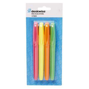 Deskwise Highlighter Long Mixed Assortment 4 Pack