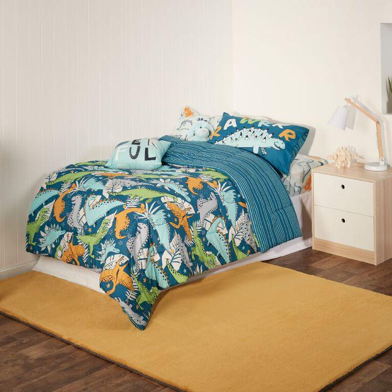 Living & Co Kids Bed In a Box Set Dino Aqua Single, , hi-res