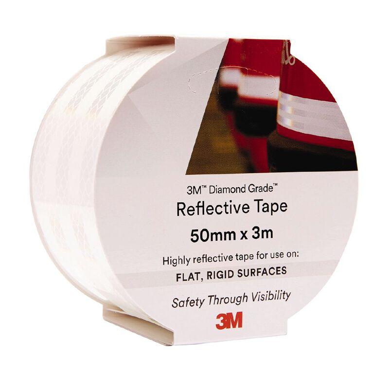 3M 983-10 Reflective Tape 50mm X 3m White, , hi-res