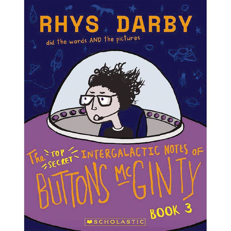 Buttons McGinty #3 The Top Secret Intergalactic Notes by Rhys Darby, , hi-res