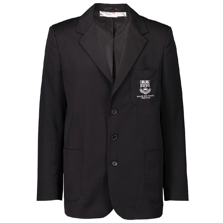 Schooltex Buller High Blazer with Embroidery, Black, hi-res