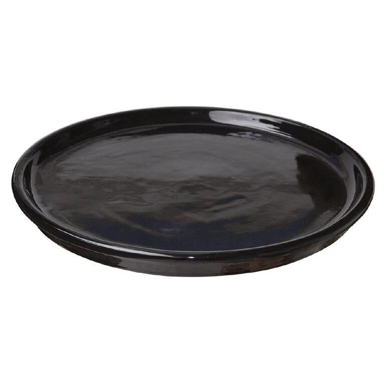 Kiwi Garden Round Saucer Black 32cm, , hi-res