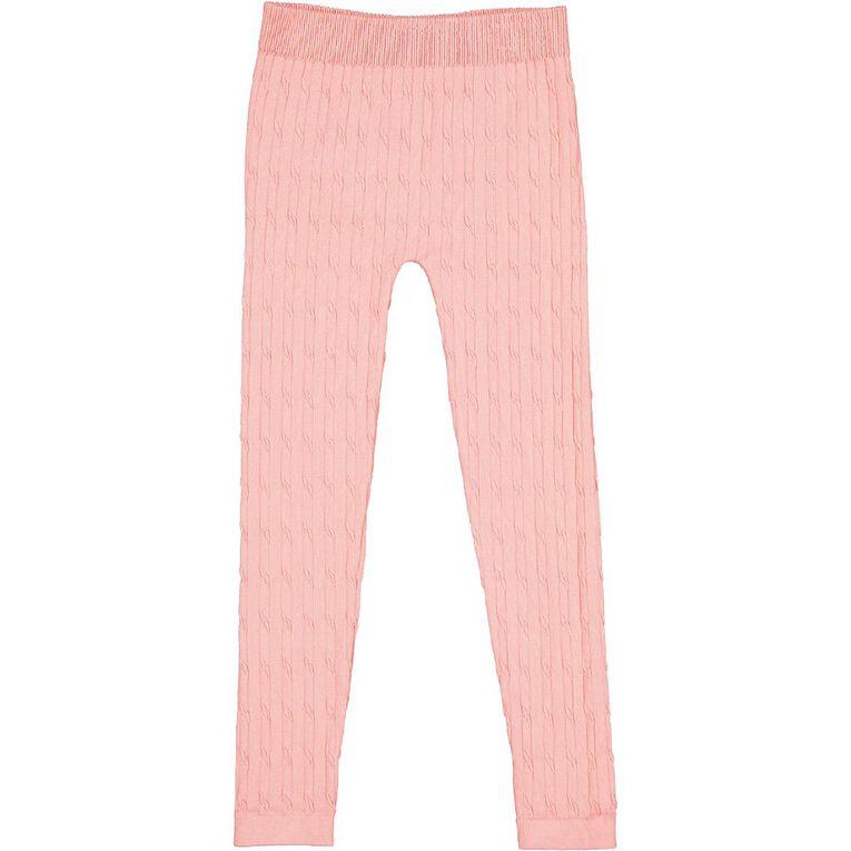 Young Original Cable Leggings, Pink Mid, hi-res