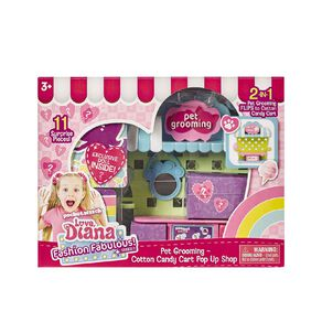 Love Diana Pop Up Pet Grooming or Candy Cart 2-in-1 Playset