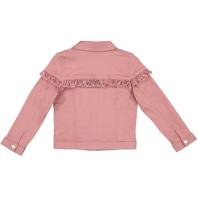 Young Original Frill Jacket, Pink Dark, hi-res