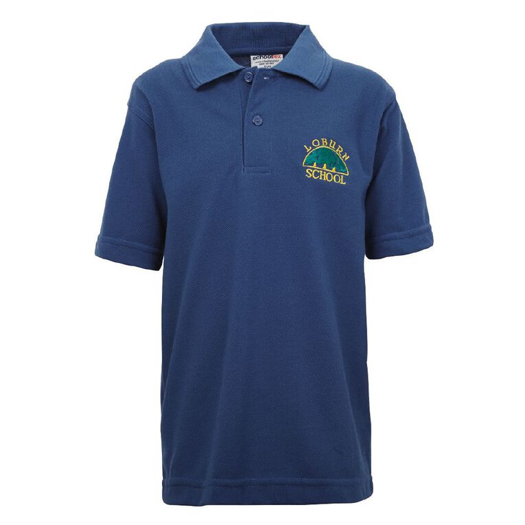 Schooltex Loburn Short Sleeve Polo with Embroidery, Royal, hi-res