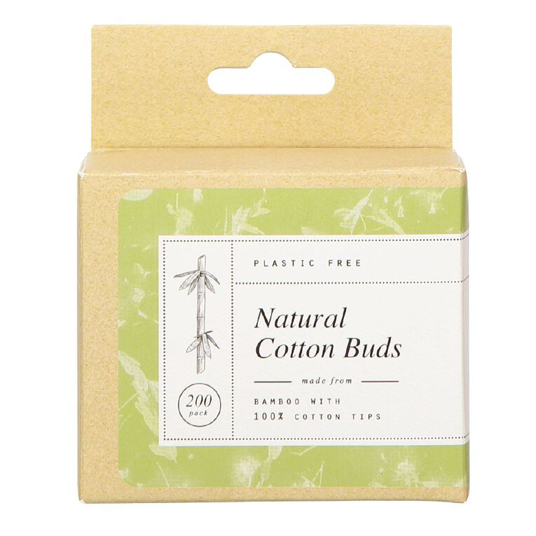 Cotton Buds Bamboo Stemmed 200 Pack, , hi-res