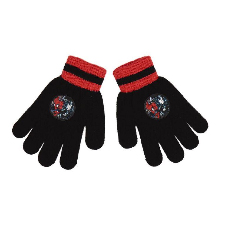 Marvel Kids' Marvel Gloves, Black, hi-res