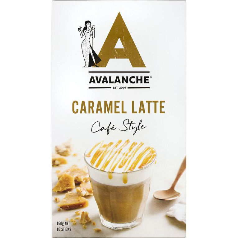 Avalanche 99% Sugar Free Caramel Latte 10pk, , hi-res