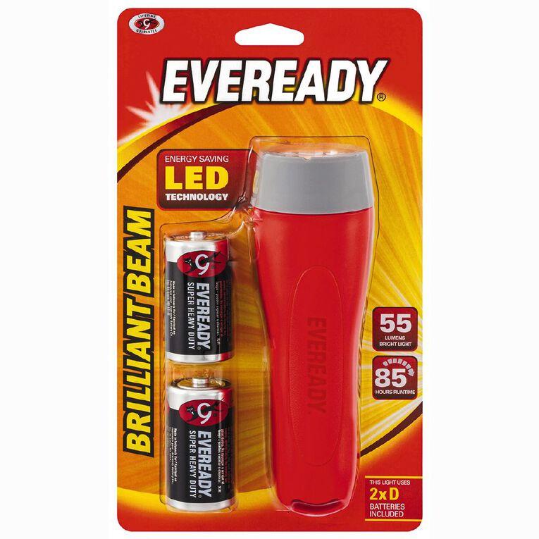 Eveready Brilliant Beam Torch 2D, , hi-res
