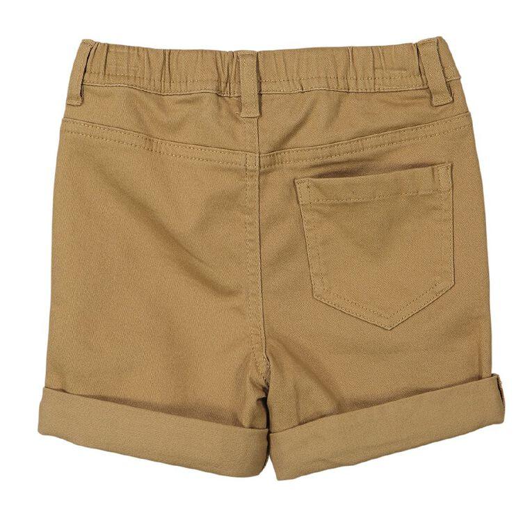 Young Original Toddler Plain Chino Shorts, Brown Mid, hi-res