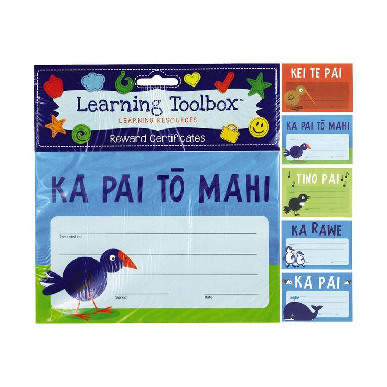 Learning Tool Box Reward Certificates Maori A5 Assorted 30 Pack, , hi-res