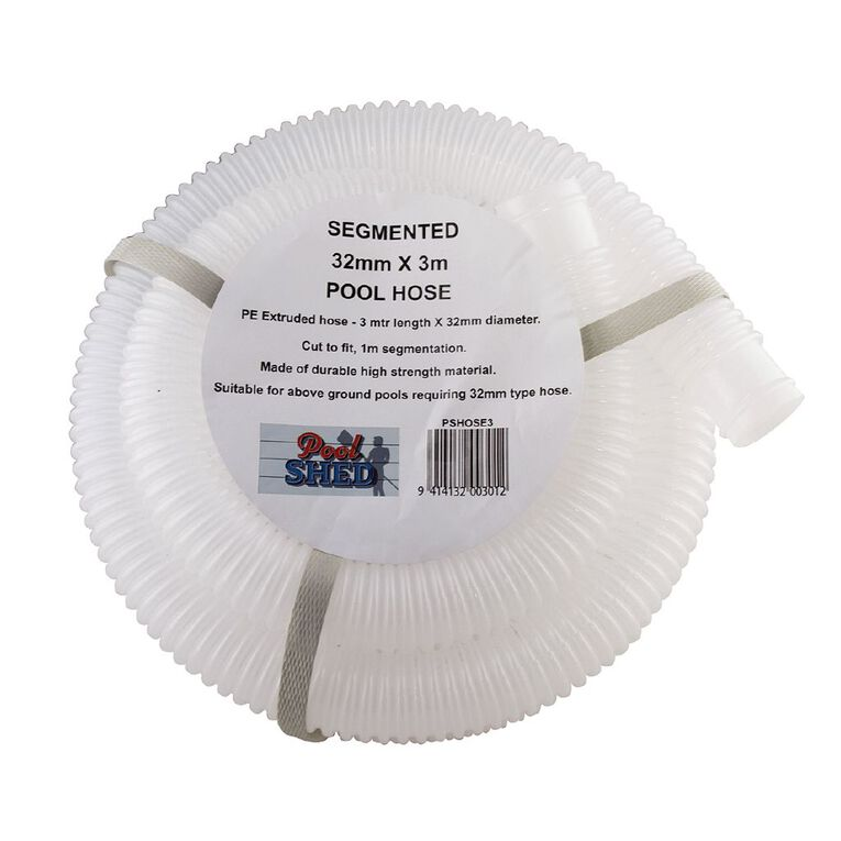 Pool Shed Replacement Hose For Soft Side Pools 32mm x 3m, , hi-res