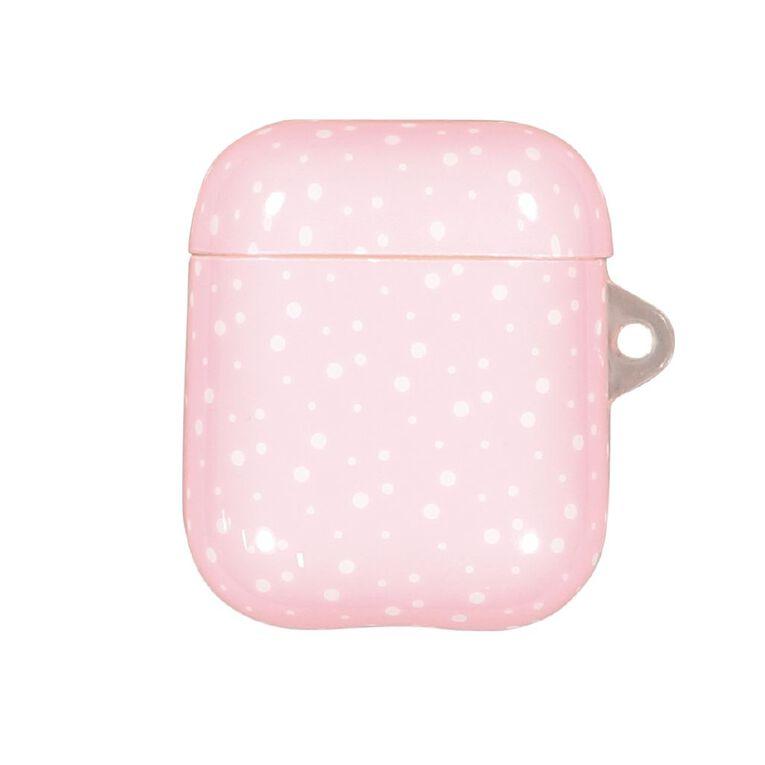 Positivity Airpod Case Polka Dot White & Pink, , hi-res