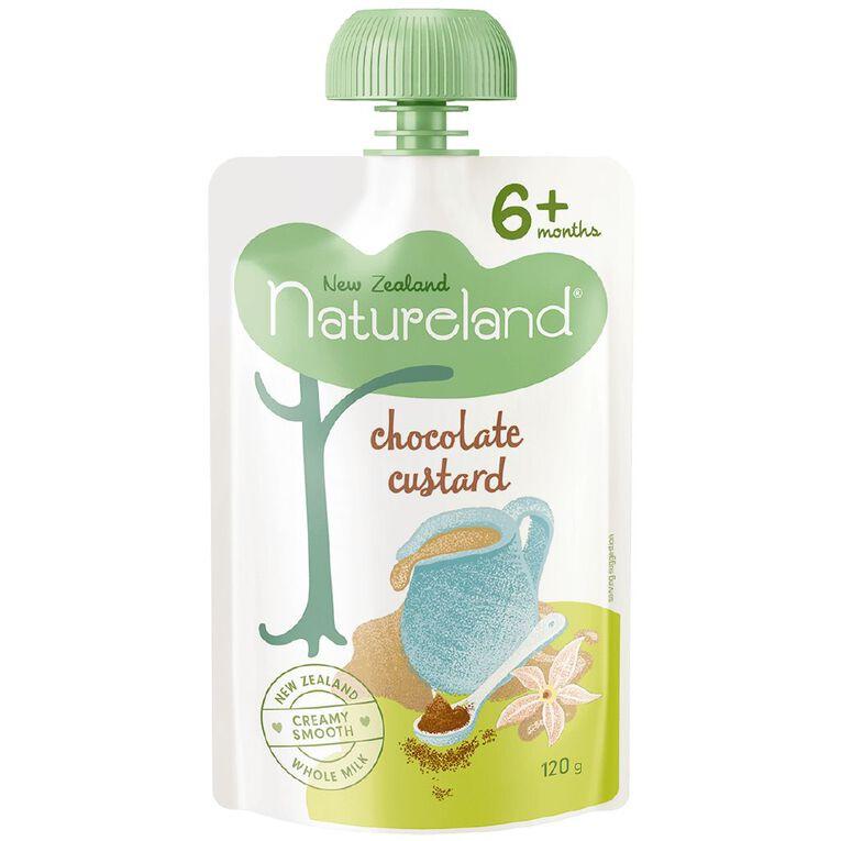 Natureland Chocolate Custard Pouch 120g, , hi-res