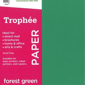 Trophee Paper 80gsm 30 Pack Forest Green A4