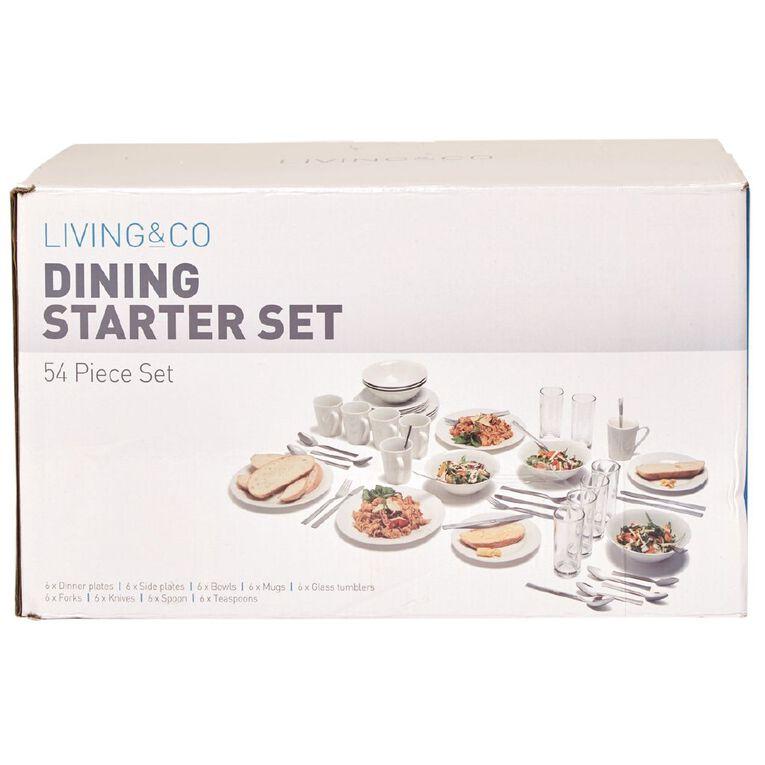 Living & Co Dining Starter Set 54 Piece, , hi-res
