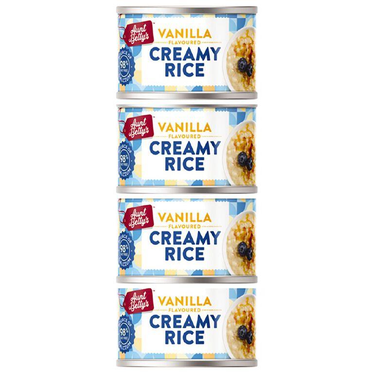 Aunt Betty's Creamy Rice Vanilla 100g 4 Pack, , hi-res