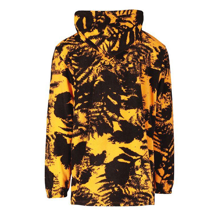 Back Country Camo Fleece Hooded Sweatshirt, Orange/Fluro, hi-res image number null