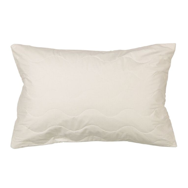 Living & Co Pillow Protector Cotton White Standard, White, hi-res