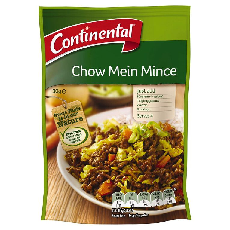 Continental Recipe Base Chow Mein Mince 30g, , hi-res