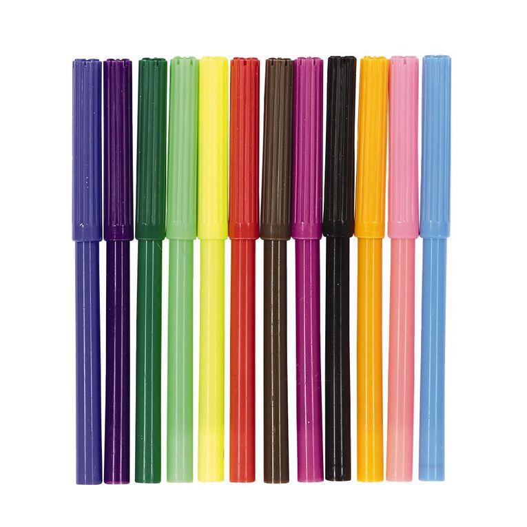 Kookie Felt Pens Multi-Coloured 12 Pack, , hi-res
