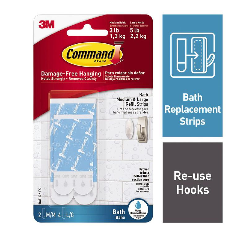 Command Assorted Refill Strips White, , hi-res
