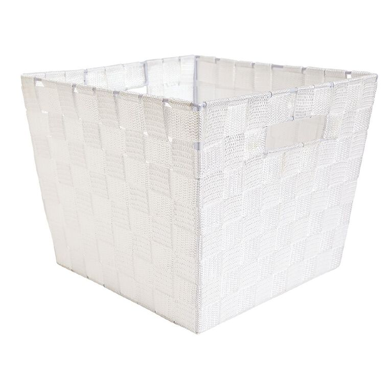 Living & Co Woven Basket White Medium, , hi-res