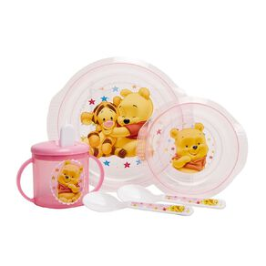 Winnie the Pooh Pink 5pc Feeding Set