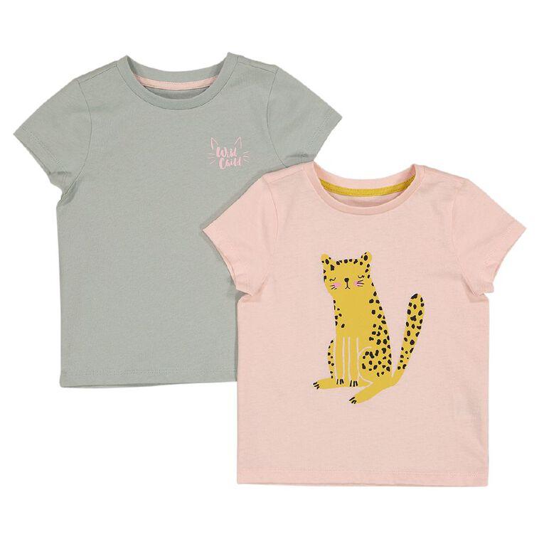 Young Original 2 Pack Short Sleeve Tee, Pink Light, hi-res