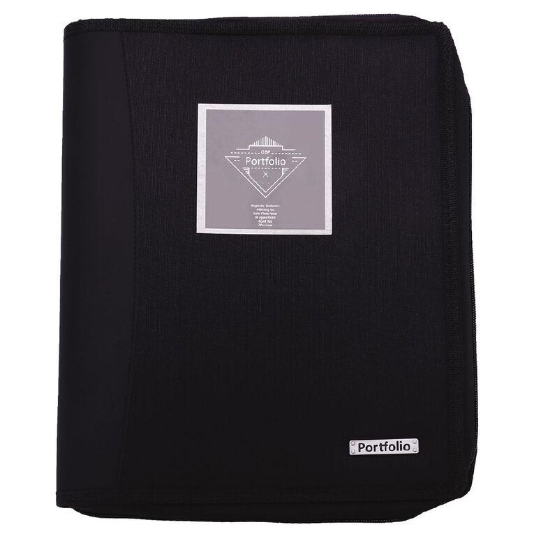 Portfolio Compendium A4 With Ringbinder Black, , hi-res