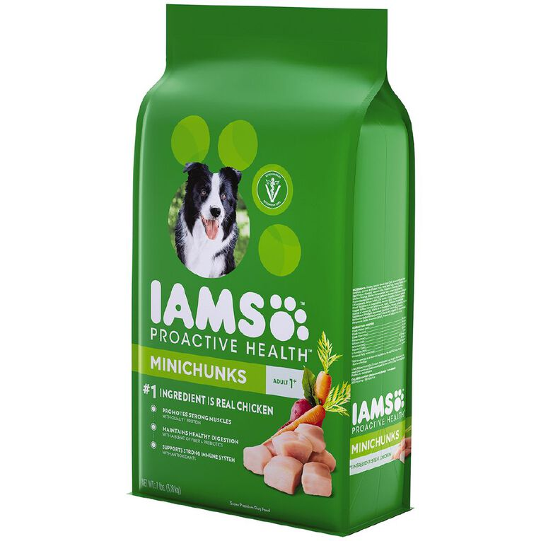 Iams Proactive Health Adult Dry Dog Food Minichunks Chicken 3.18g Bag, , hi-res