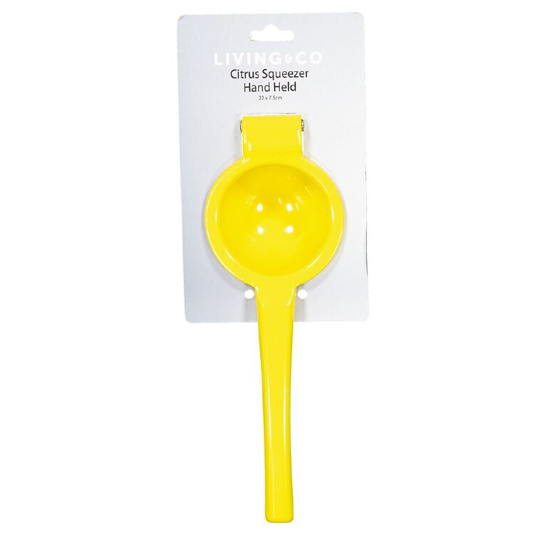 Living & Co Citrus Squeezer Hand Held Yellow, , hi-res
