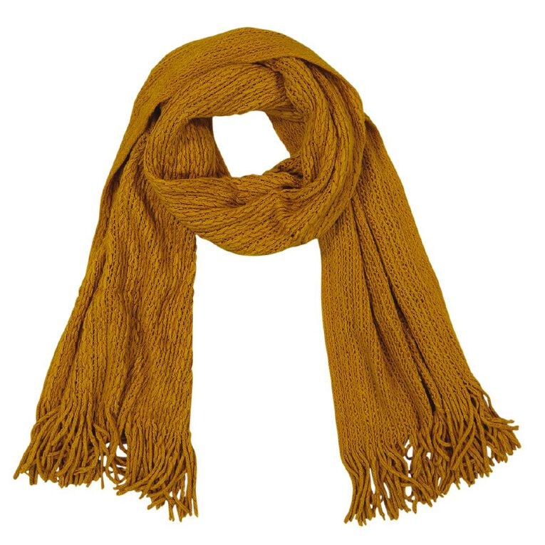 H&H Essentials Entry Scarf, Yellow, hi-res