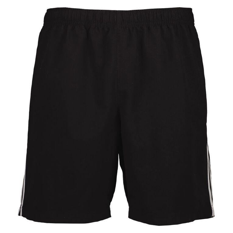 Active Intent Men's Double Stripe Shorts, Black, hi-res