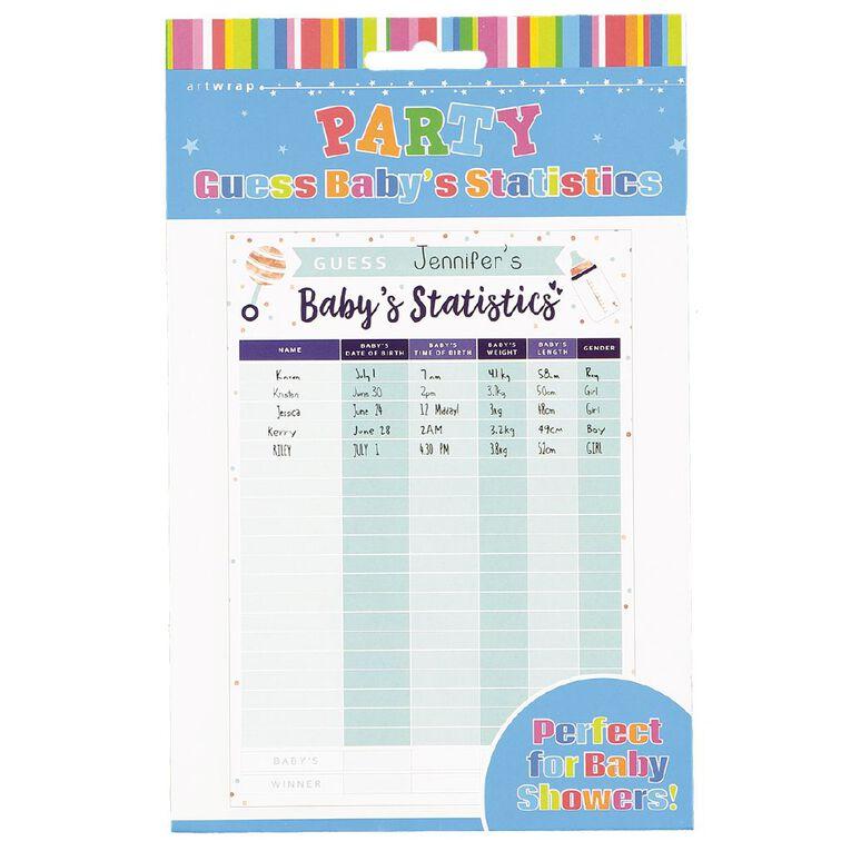 Artwrap Guess Baby Statistics Game, , hi-res