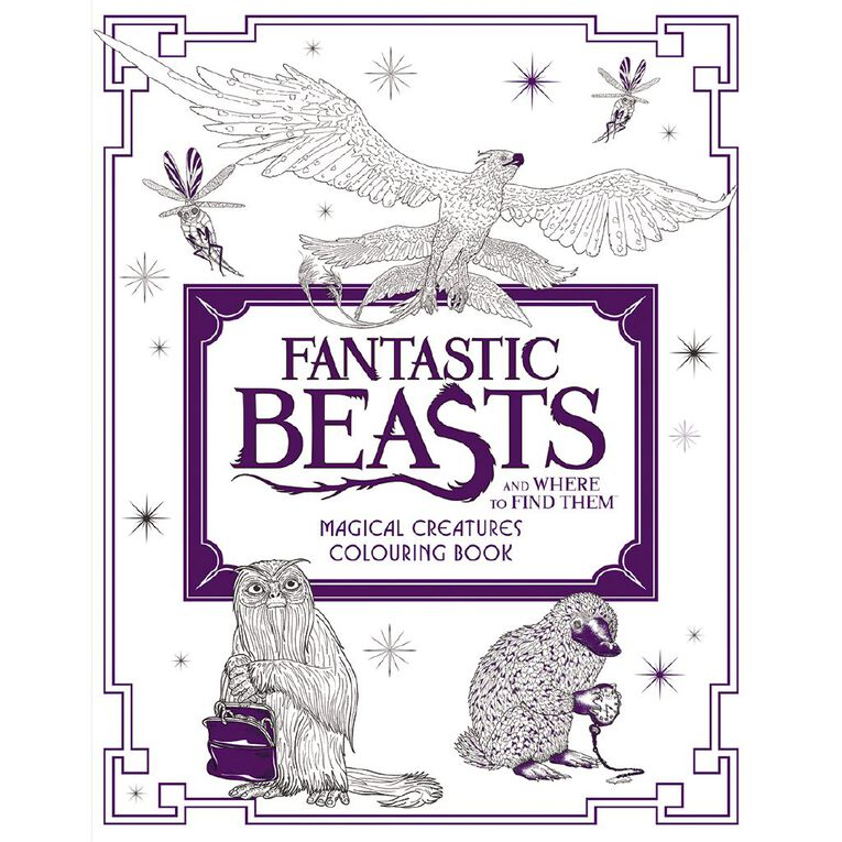 Fantastic Beasts Colouring Book Creature, , hi-res image number null