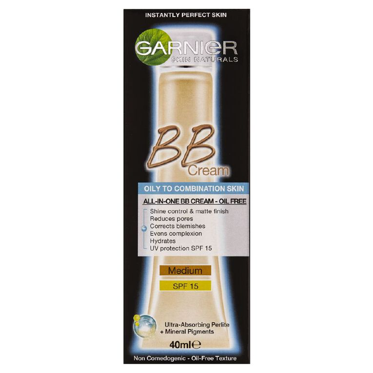 Garnier Miracle Skin Perfector Oil-Free BB Cream Medium Beige 40ml, , hi-res