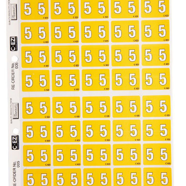 Filecorp Coloured Labels 5 Yellow, , hi-res