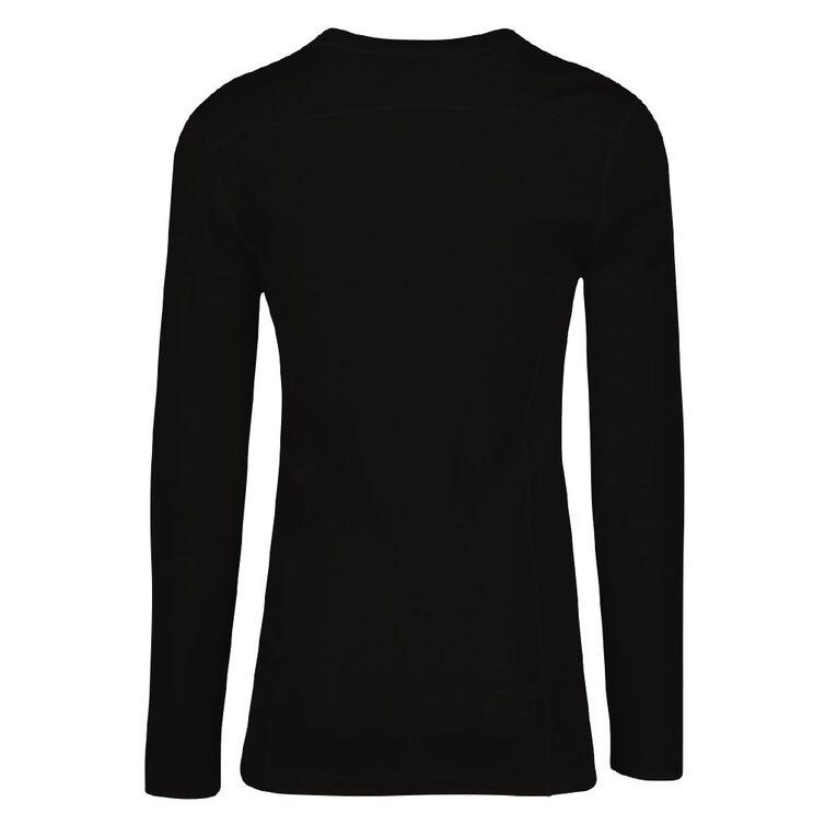 H&H Men's Merino Thermal, Black, hi-res image number null