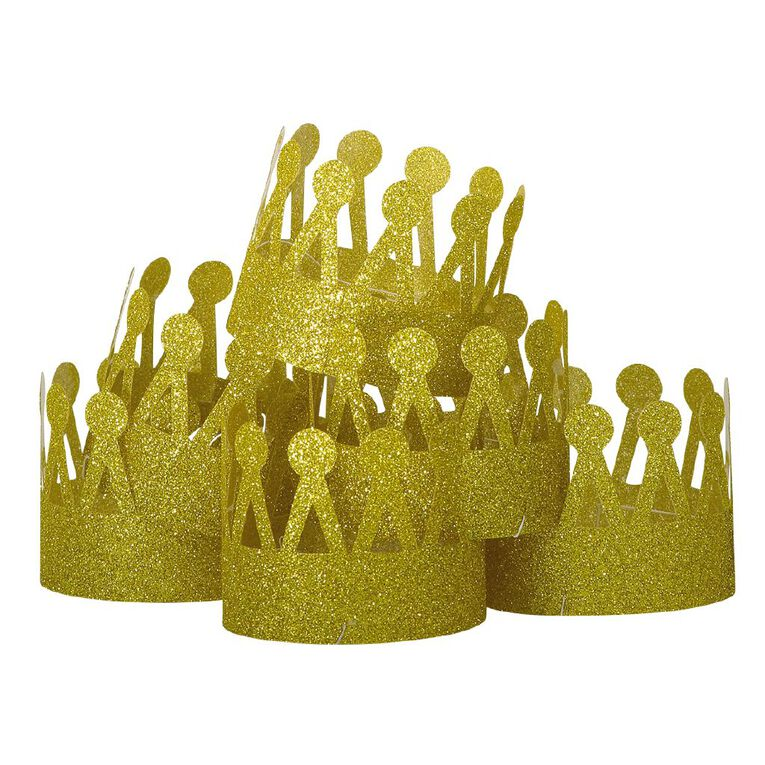Party Inc Gold Crown 6 Pack, , hi-res